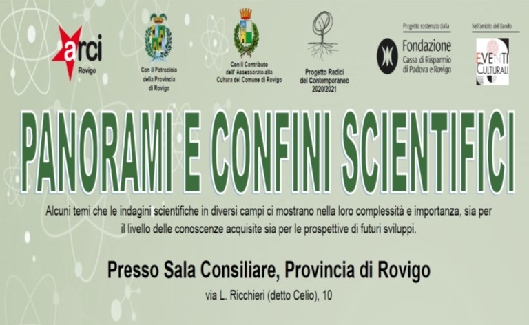 PANORAMI E CONFINI SCIENTIFICI