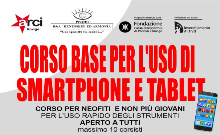 CORSO BASE PER L'USO DI SMARTPHONE E TABLET