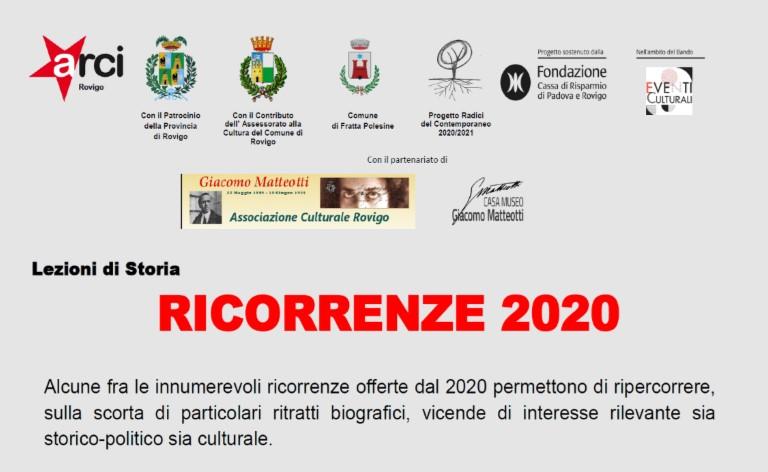 RICORRENZE 2020