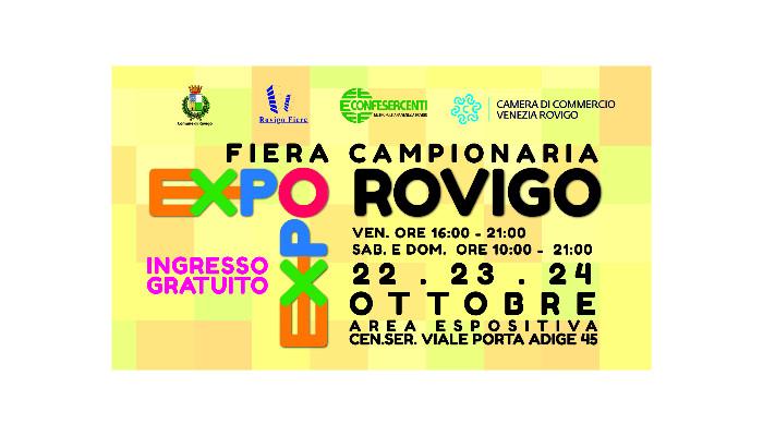EXPO ROVIGO-Fiera Campionaria  22-23-24 ottobre 2021 – Rovigo Fiere