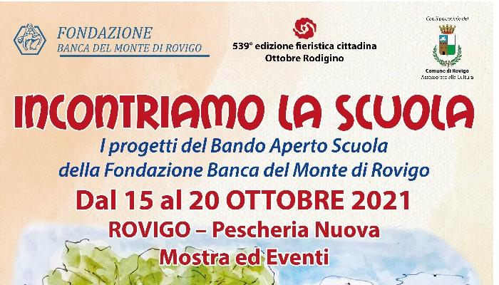 OTTOBRE RODIGINO – Illustrazione progetti bando aperto scuola, a cura della Fondazione Banca del Monte di Rovigo